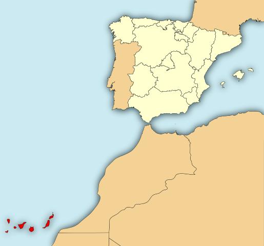 Kanarieöarna Atlanten
